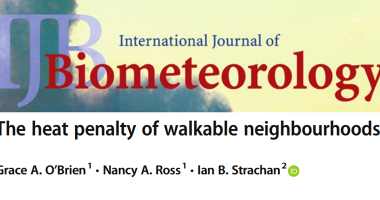 New Article Published on 'Heat Penalty' of Walkable Neighbourhoods