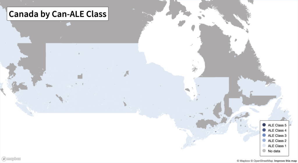 Can-ALE Canada map