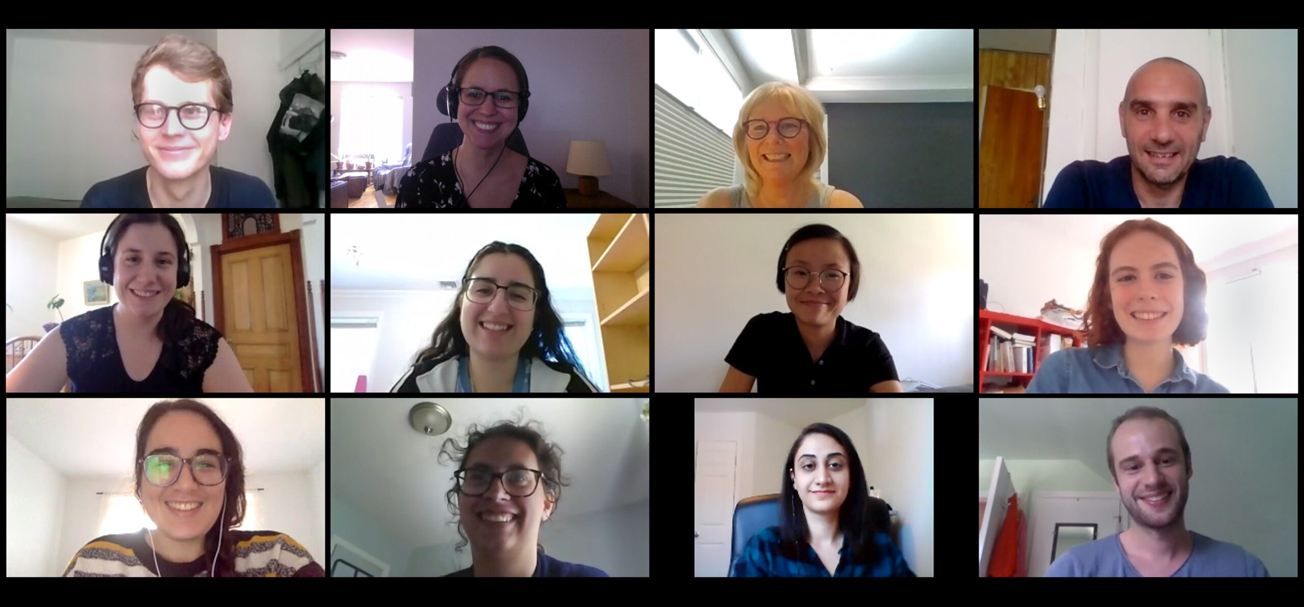 The GeoSDH team on a Zoom meeting in June, 2020.