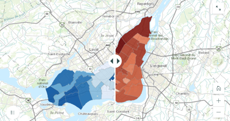 NEW INTERACTIVE MAP SHOWS RELATIONSHIP BETWEEN INCOME AND COVID-19 IN MONTREAL
